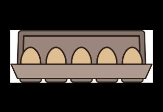 Icone de rangement d'oeuf